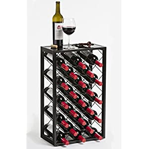 Mango Steam Wine Rack with Glass Table Top