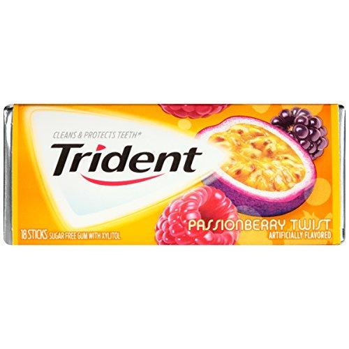 Trident Sugar Free Gum (Passionberry Twist, 18-Piece, 12-Pack)
