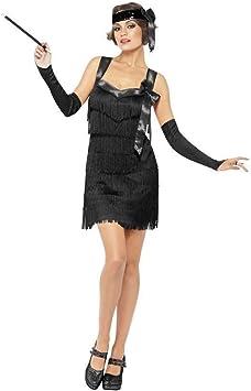 NET TOYS Disfraz de charlestón años 20 en Negro Vestido ...