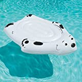Inflatable Lounger. This Polar Bear Rider One Person Blow Up Float Is Great For Teens & Adults To Swim & Relax On Water, River, Lake, Swimming Pool & Water Park. Heavy-Duty Grab Handles. Cup Holder.