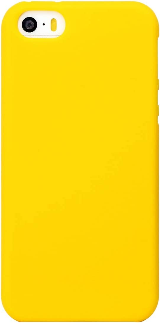 MUNDULEA Compatible iPhone SE (2016 Edition)/iPhone 5/iPhone 5s Case,Shockproof TPU Ptotective Cover Compatible iPhone 5s (Yellow)