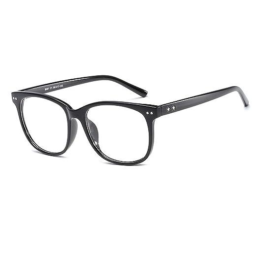 8e4f7541d303 D.King Vintage Oversized Horn Rimmed Non Prescription Eye Glasses Frame  Clear Lens Eyeglasses Black