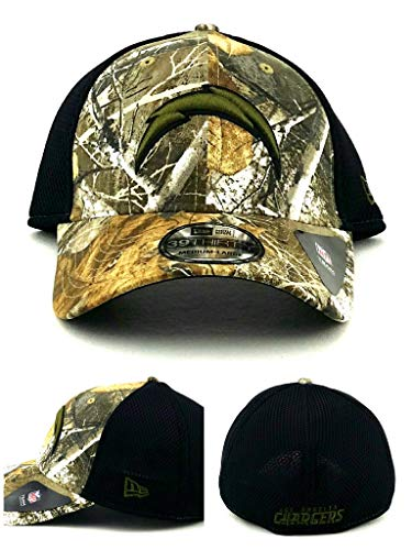 (NFL San Diego Chargers Realtree NEO 39THIRTY Stretch Fit Cap, Medium/Large, Realtree Camo)