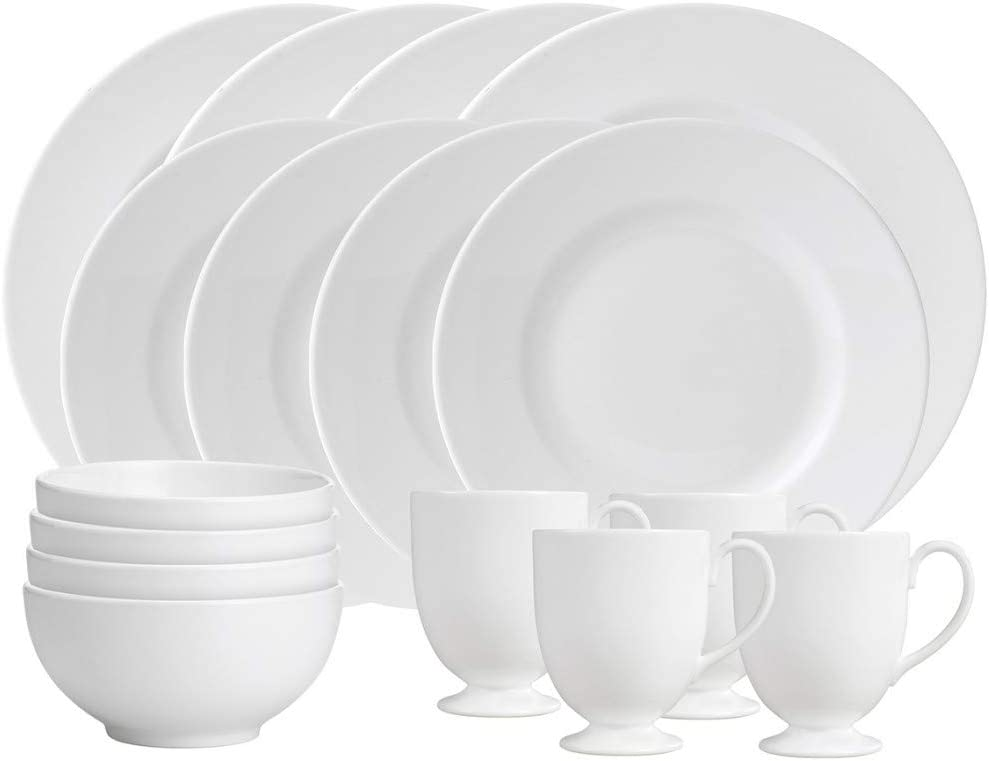 Wedgwood White Piece 16 pc dinnerware set, service for four, 4