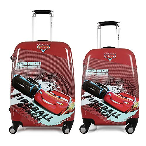 Humty Dumty Disney HD Cars Red Polycarbonate Kids Hard Luggage Trolley Bag | Travel Bag 18  22