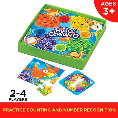 514IJgZ2b%2BL - Hasbro Hi Ho! Cherry-O Board Game for 2 to 4 Players Kids Ages 3 and Up (Amazon Exclusive)