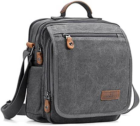 Plambag Canvas Messenger Bag Small Travel School Crossbody Bag