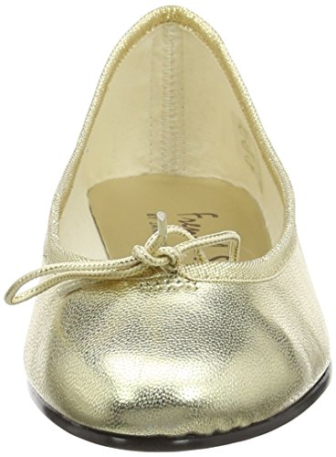 French Sole India Leather - Bailarinas Mujer Oro (Gold)