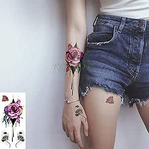 tzxdbh 3Pcs-Etiqueta engomada del Tatuaje a Prueba de Agua Oro ...