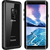 Temdan Galaxy S9+ Plus Waterproof Case 2018 Support Wireless Charging Case Rugged Built in Screen Protector with Kickstand Shockproof Underwater Case for Samsung S9+ Plus(6.2inch) (Black)
