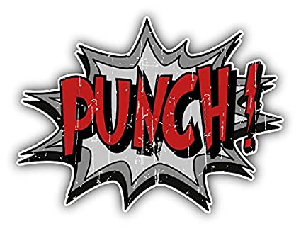 Amazon com: Punch Comic Sound Effect Home Decal Vinyl Sticker 5'' X