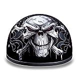 Daytona Helmets Motorcycle Half Helmet Skull Cap- Cross Bones 100% DOT Approved