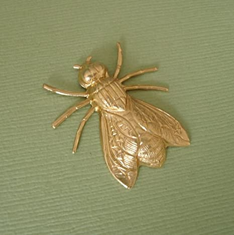 Brass Fly Charms Brass Insect Stamping 12 Pieces Jewelry Findings Jewelry Supplies Jewelry Making Supplies Small Brass Fly Stamping