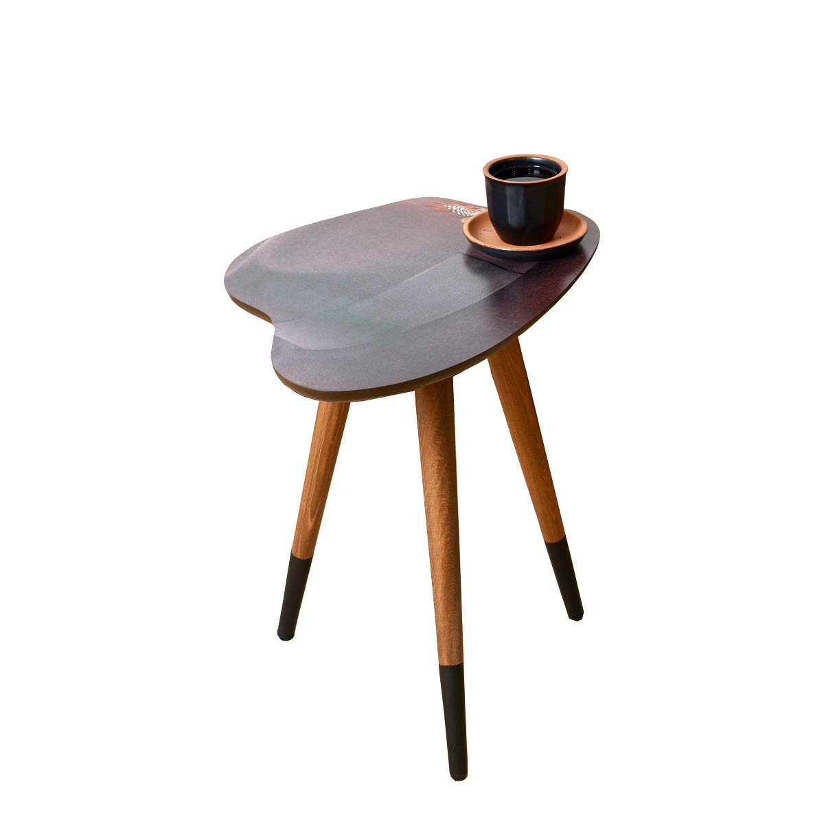 Casaculina Vintage Fedora Hat Design Side Table, Retro, Mid-Century Modern Design Wooden Coffee Table,End Table, Cocktail Table for Living Room, Bedroom by Casaculina
