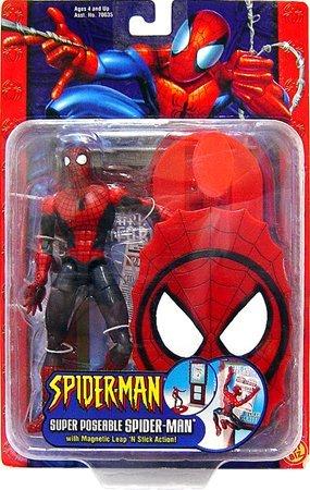 Spider-Man Action Figure Super Poseable Spider-Man [Magnetic Leap 'n Stick Action] (Man Stick Spider Figure)
