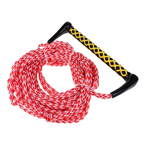 Prettyia 72ft Water Ski Rope Tow Harness Rope EVA Floatable Handle Wake Surf Wakeboard Knee Board Wakeskate Surfing Wakesurf