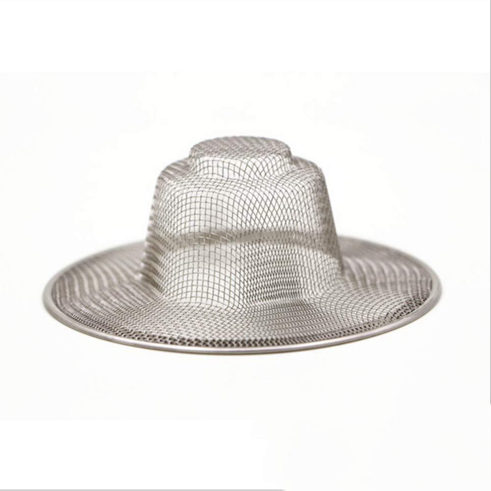Potelin Stainless Steel Stopper Mesh Kitchen Straw Hat Floor Drain Drain Stopper for Kitchen Bathroom