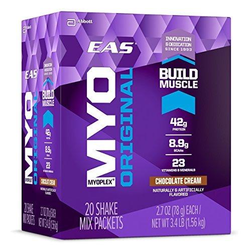EAS Chocolate Cream Myo Plex Original Shake Mix Packets - Pack of 20 by EAS