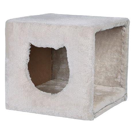 Cat den ideal para estanterías fuerte lavable extraíble cojín independiente 37 x 33 x 33 cm (L x W x H), color gris: Amazon.es: Productos para mascotas