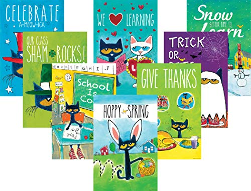(Pete The Cat Holiday and Seasonal Poster Set)