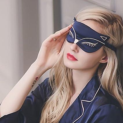 Seda - máscara para dormir, suavizado de doble cara Antifaz para dormir de seda Mulberry