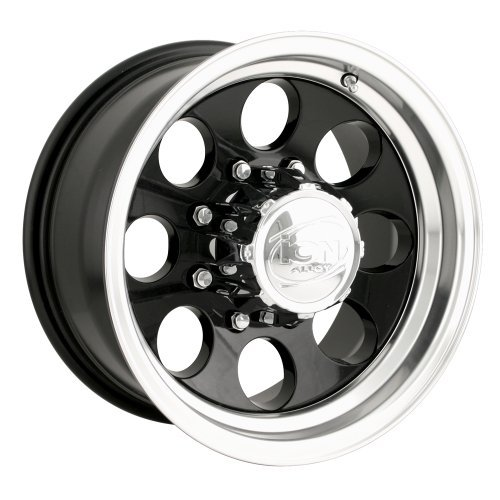 Ion Alloy 171 Black Wheel with Machined Lip (16x8/5x114.3mm) by Ion Alloy - Lip Alloy Wheels