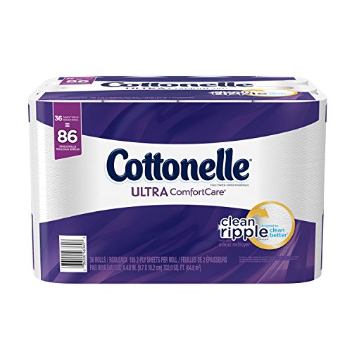 Cottonelle Ultra ComfortCare Toilet Paper, Bath Tissue, 36 Family (Bath Tissue White 2 Ply)