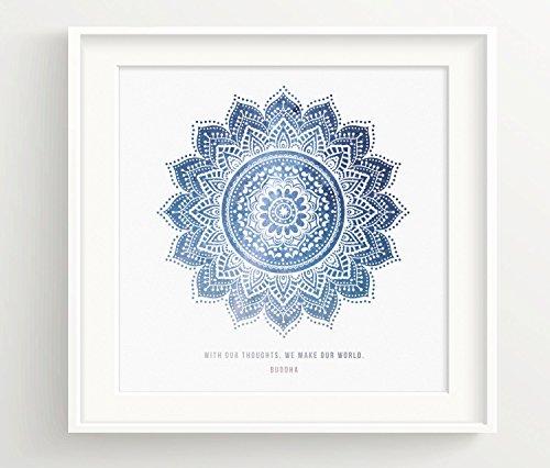 Buddha Mandala Print thoughts Spiritual product image