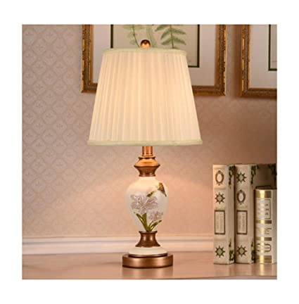 Amazon.com: PPWAN Table Lamp American Bedroom Bedside Lamp ...
