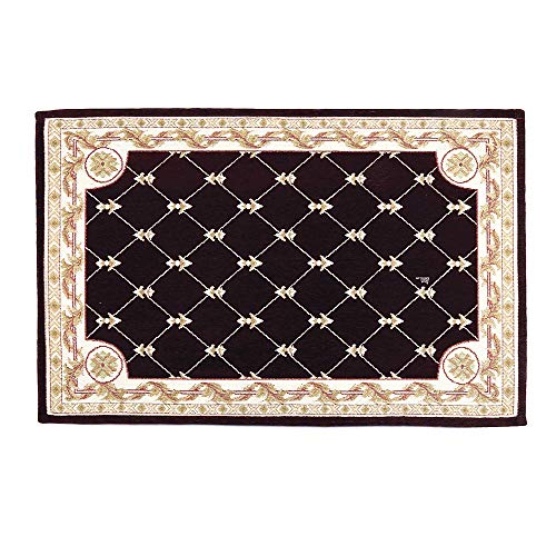 - Hihome Anti-Slip/Skid Door Mat Shay Area Rugs Runner Rug 2'x3' Brown Traditional Classic Machine Washable Floral Rugs Indoor Outdoor Kitchen Hallway Entry(24