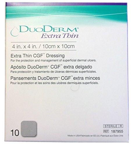 ConvaTec DuoDERM Extra Thin CGF Dressings 4 X 4 Inches 187955 10 Each