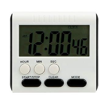 Temporizador de cocina LCD digital temporizador de cocina magnético alarma reloj multifunción: Amazon.es: Hogar
