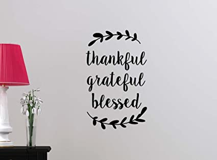thankful grateful blessed religious love vinyl family wall saying