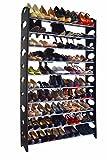 50 Pair Free Standing 10 Tier Shoe Tower Rack Organizer Space Saving Shoe Rack By Sawan Shop | amazon.com