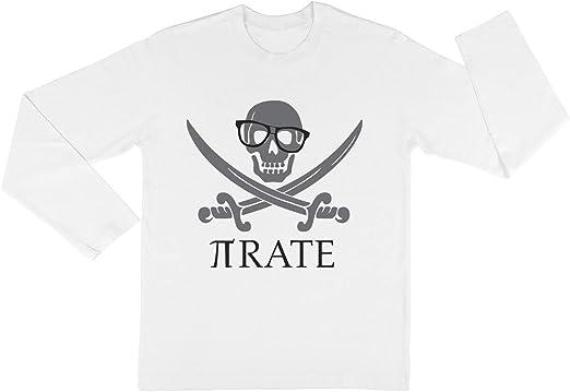 Pirata Humor Mates Número Pi Empollón Camisa Niño Niña Unisexo Blanco Camiseta Mangas Largas Kids White T-Shirt: Amazon.es: Ropa y accesorios