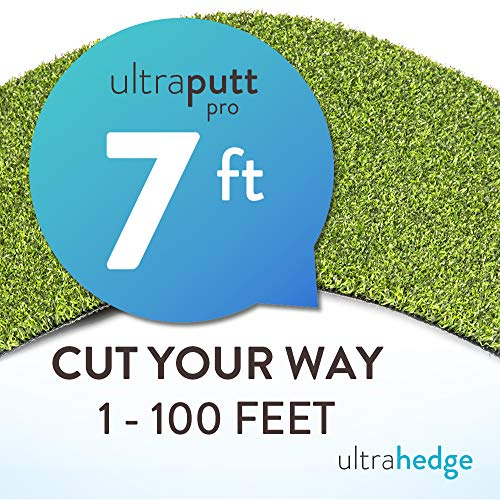 16' Seven Leaves - UltraHedge 7 x 16Ft UltraGolf Pro Artificial Grass for Golf Putts Sports Outdoor or Indoor Green Faux Fake Grass Decor   112 SqFt   0.63