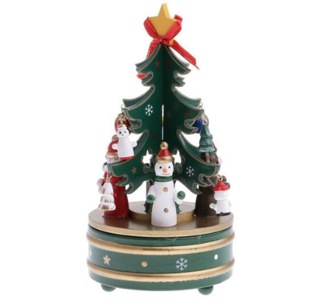 大割引 Biscount クリスマス 雪だるま 回転オルゴール 回転オルゴール 木製おもちゃ 木製おもちゃ クリスマスツリー 時計仕掛けサンタクロース クリスマス 回転オルゴール B07JM99L3R, ICI ski online:84ff49d6 --- arcego.dominiotemporario.com