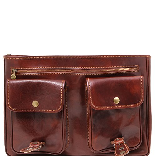 81003104 81003104 TUSCANY LEATHER MODENA dark brown briefcase Leather TUSCANY Messenger q5C15O