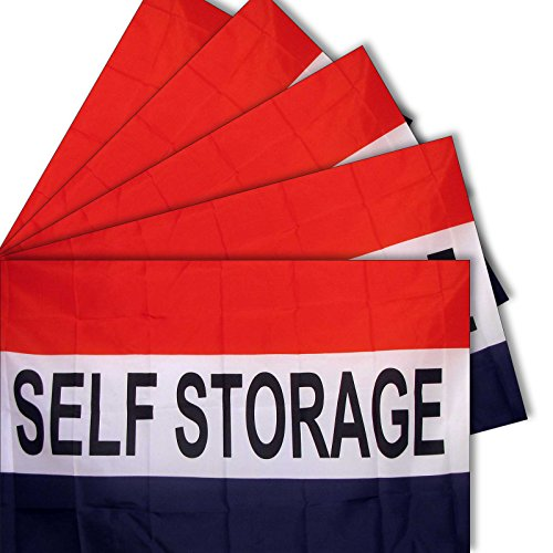 "5-pack of NEOPlex ""SELF STORAGE"" 3' x 5' Flag"