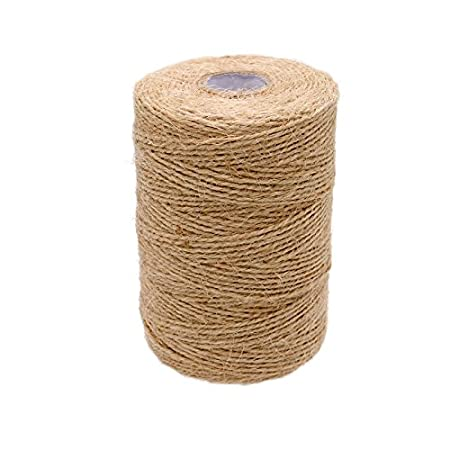 656 Feet Natural Jute Twine Gift Twine String 2Ply Arts Crafts Jute Rope for Gift Wrap DIY Decoration KINGLAKE