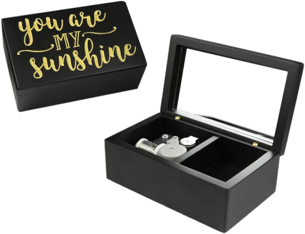 ROSIKING Wooden Music Box, Musical Boxes Best Gift for Birthday for Kids Children Christma (You are My Sunshine)