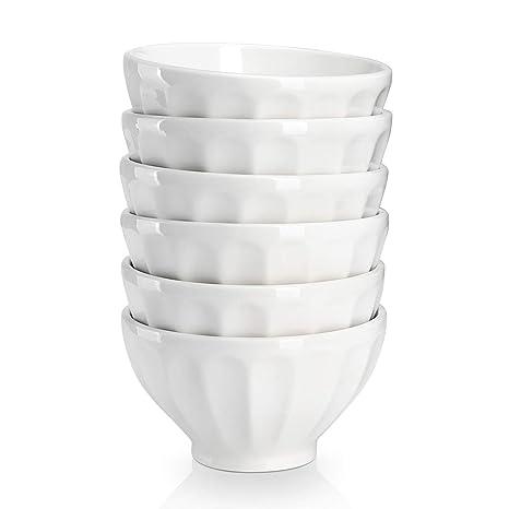 Amazon.com: Sweese - Juego de 6 cuencos de porcelana para ...