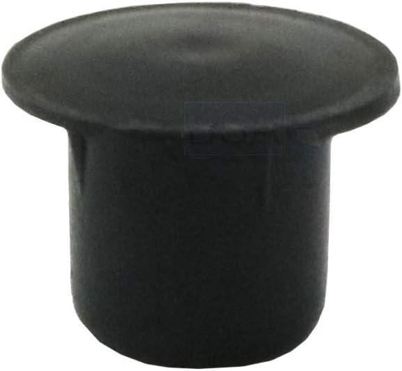 10Tapones cubre-orificio 8mm Irox Negro plástico cabeza 12mm Converse