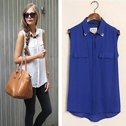 LOBZON - Camisas - Básico - Clásico - para mujer Azul