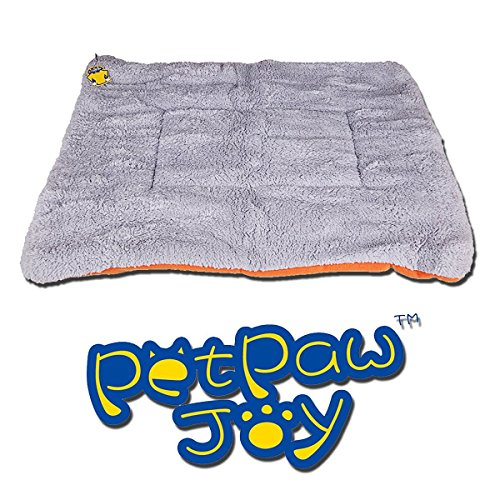 Dogs Blanket, PETPAWJOY Crate Pad Cat Bed Dog Crate Cushions Pad Washable Filling Pads Soft Furry Pet Bed Mat 26x23x1.5 inch