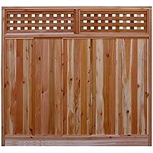 Signature Development 6 ft. H x 6 ft. W Western Red Cedar Checker Lattice Top Fence Panel Kit