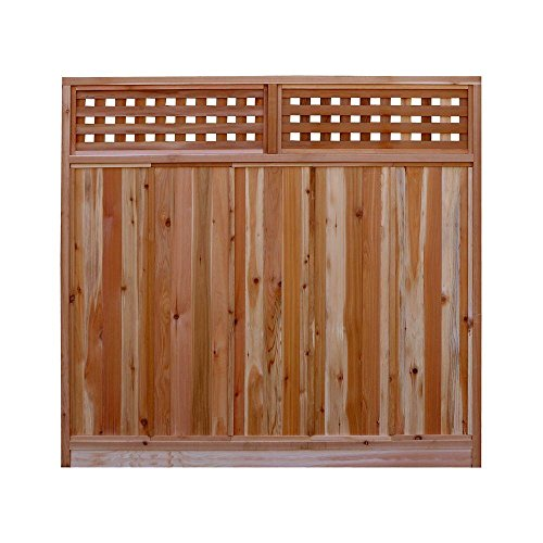 Signature Development 6 ft. H x 6 ft. W Western Red Cedar Checker Lattice Top Fence Panel Kit