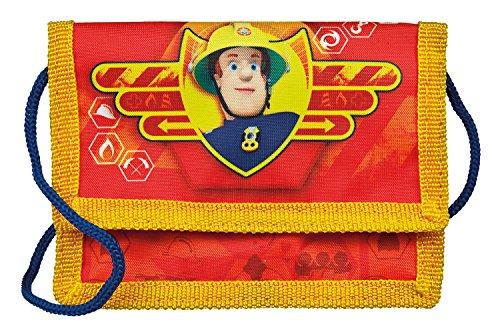 Undercover Geld/Brustbeutel Feuerwehrmann Sam, circa 13 x 8 x 5 cm Münzbörse, 0.5 Liter, Rot