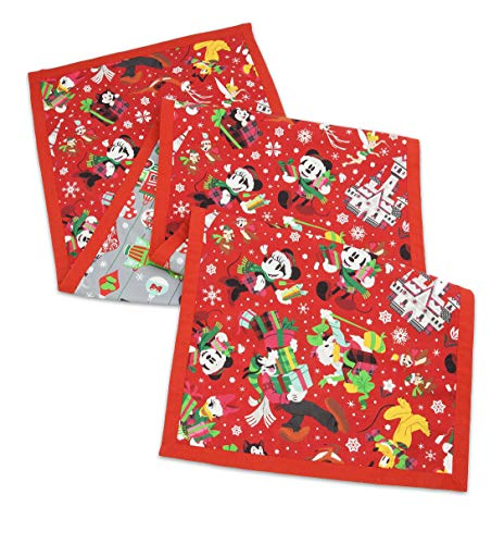 (Disney Parks Santa Mickey Mouse and Friends Holiday Reversible Table Runner)