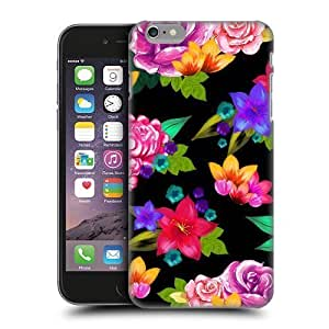 Naruto Iphone Case's Shop Head Case Designs Black Painted Flowers Protective Snap-on Hard Back Case Cover for Apple iPhone 6 Plus 5.5 6608947M53995176